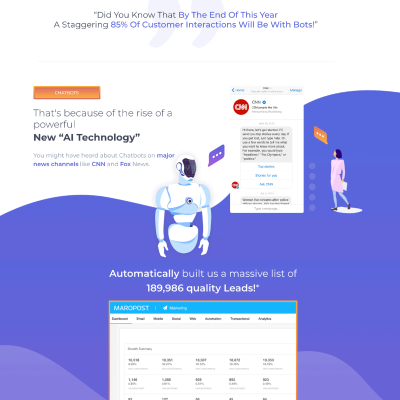 chatbot services by website design square agency